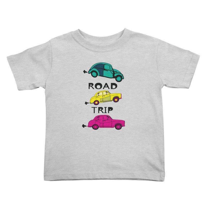 Road trip Kids Toddler T-Shirt by cindyshim's Artist Shop