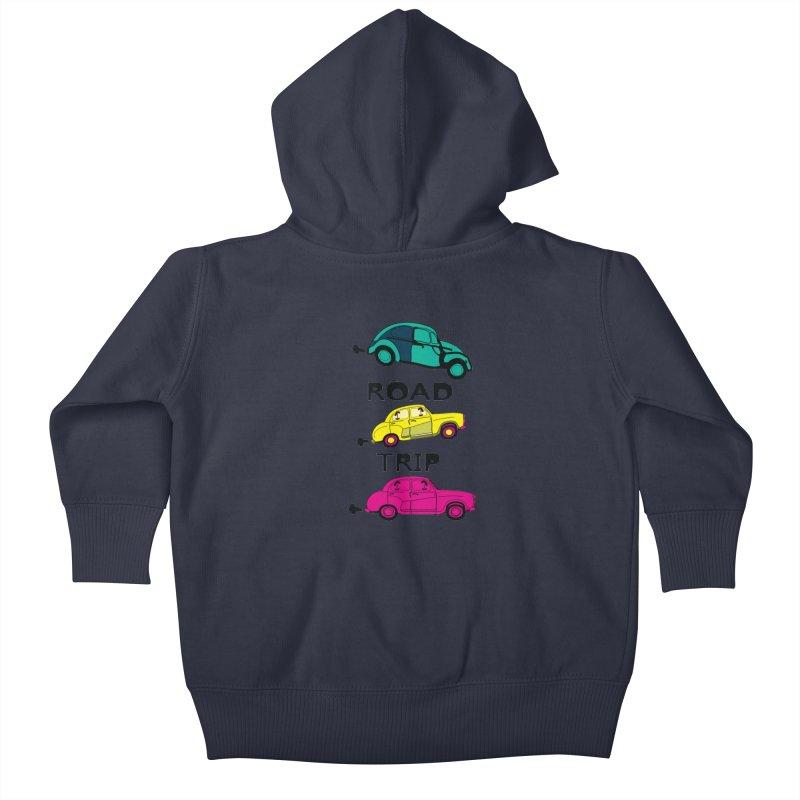 Road trip Kids Baby Zip-Up Hoody by cindyshim's Artist Shop