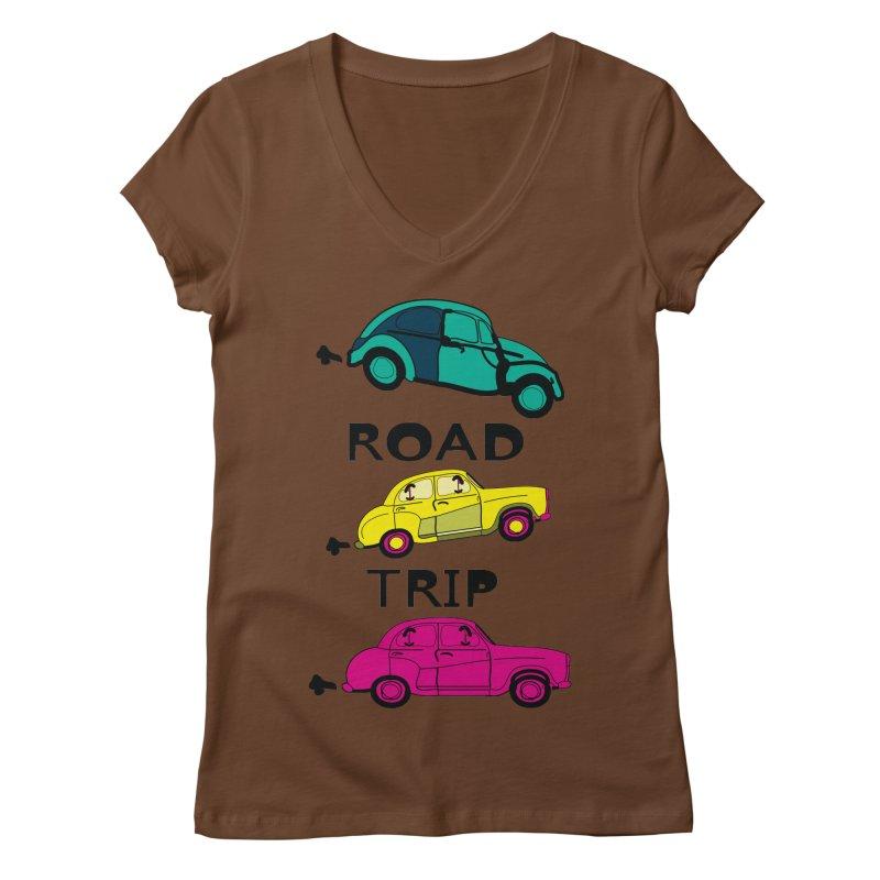 Road trip Women's Regular V-Neck by cindyshim's Artist Shop
