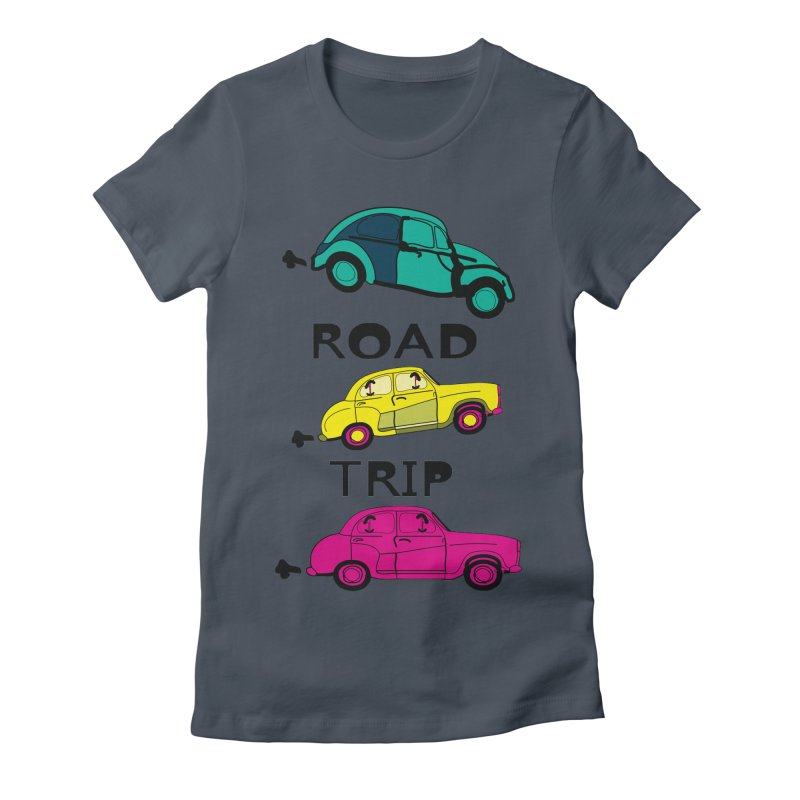 Road trip Women's Fitted T-Shirt by cindyshim's Artist Shop