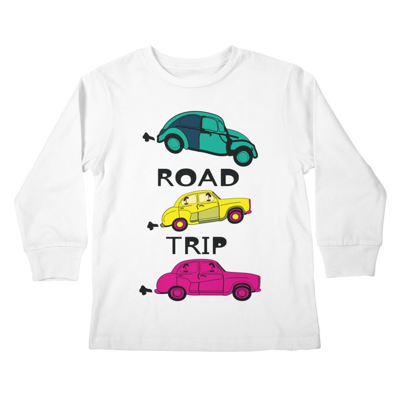 Road trip Kids Longsleeve T-Shirt by cindyshim's Artist Shop