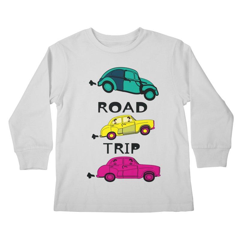 Road trip Kids Longsleeve T-Shirt by cindyshim's Artist Shop