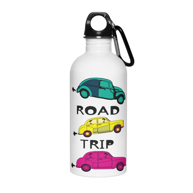 Road trip Accessories Water Bottle by cindyshim's Artist Shop