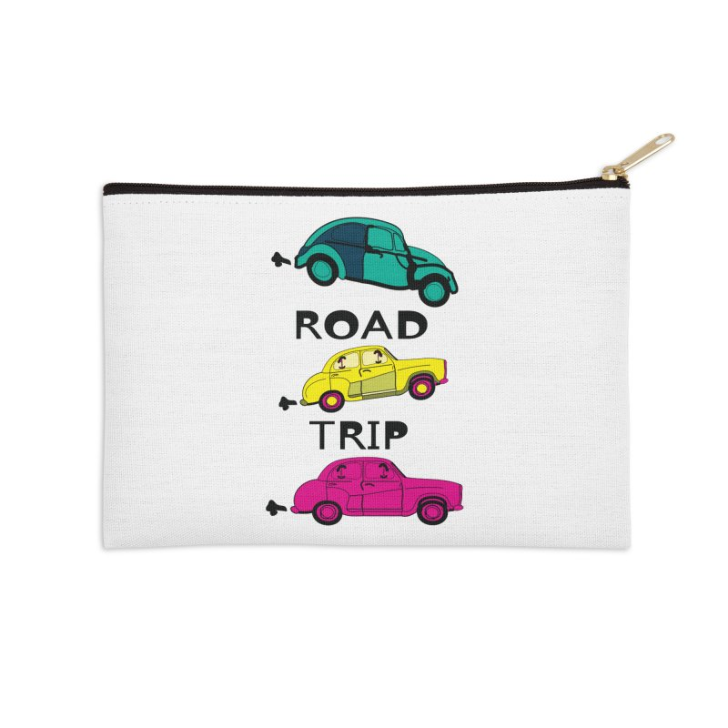 Road trip Accessories Zip Pouch by cindyshim's Artist Shop