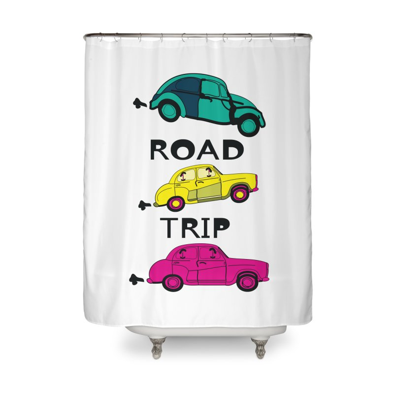 Road trip Home Shower Curtain by cindyshim's Artist Shop
