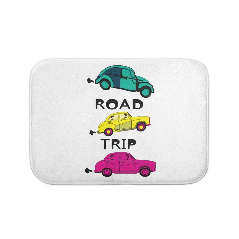 Road trip Home Bath Mat by cindyshim's Artist Shop