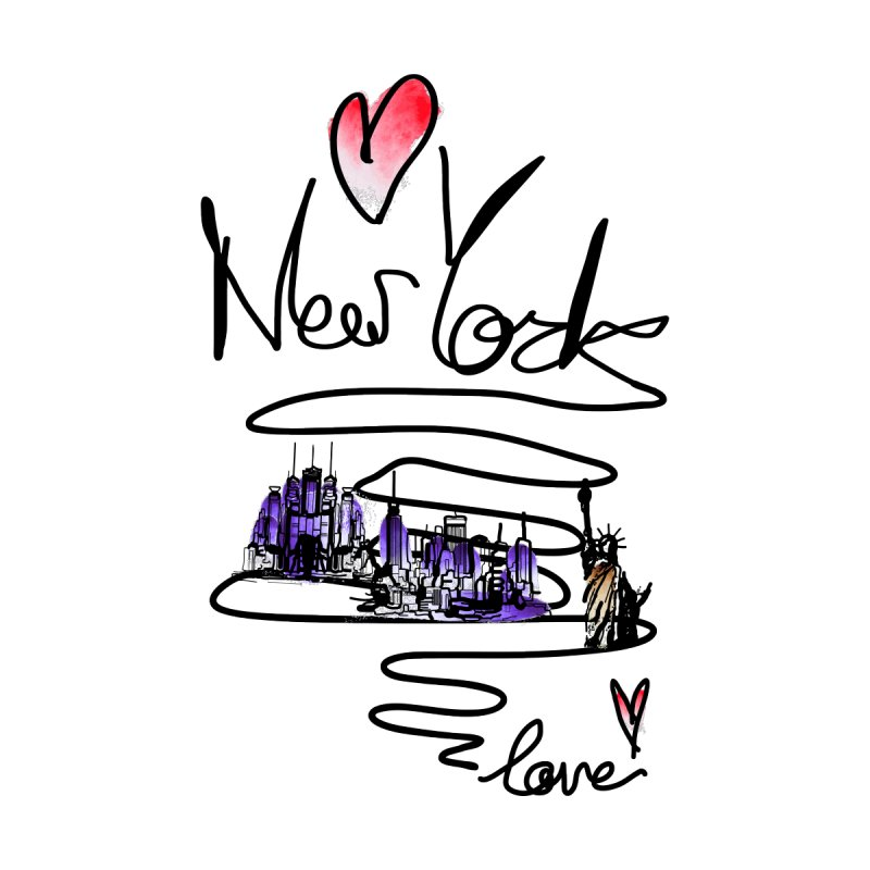 Love New York Accessories Sticker by cindyshim's Artist Shop