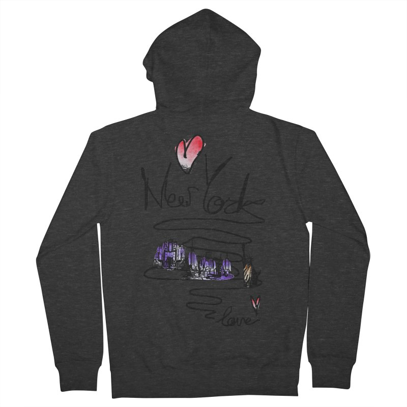 Love New York Women's French Terry Zip-Up Hoody by cindyshim's Artist Shop