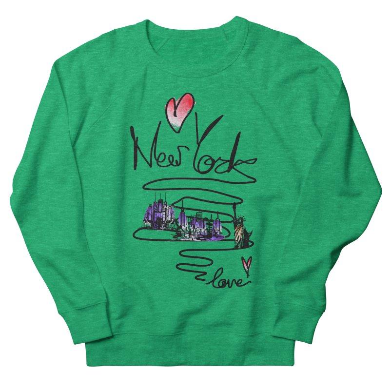 Love New York Men's French Terry Sweatshirt by cindyshim's Artist Shop