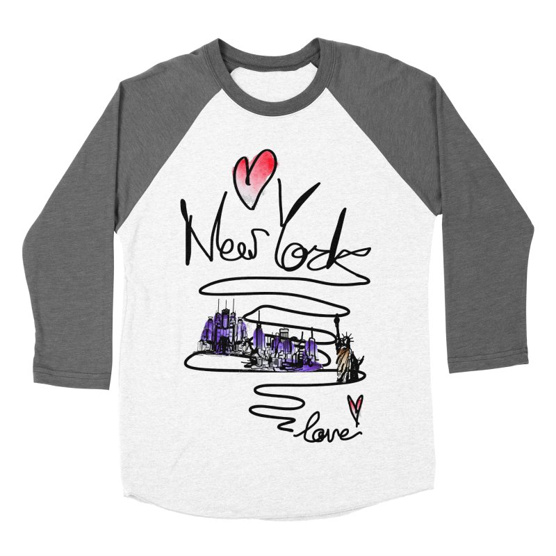Love New York Men's Baseball Triblend T-Shirt by cindyshim's Artist Shop
