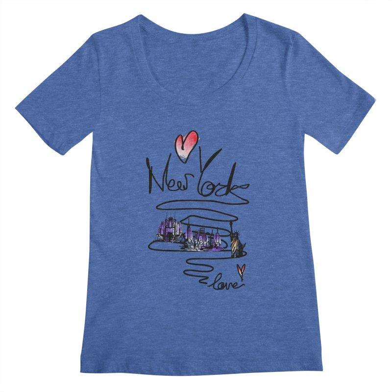 Love New York Women's Regular Scoop Neck by cindyshim's Artist Shop