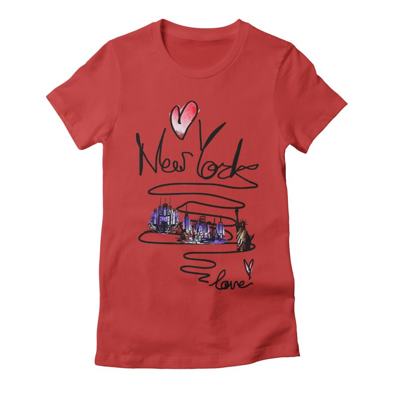 Love New York Women's Fitted T-Shirt by cindyshim's Artist Shop