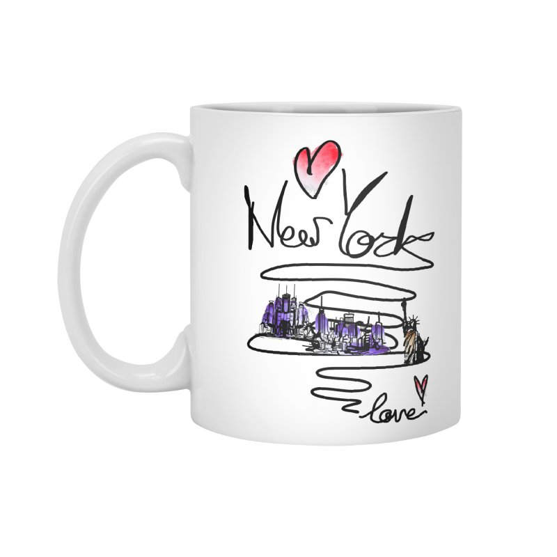 Love New York Accessories Standard Mug by cindyshim's Artist Shop