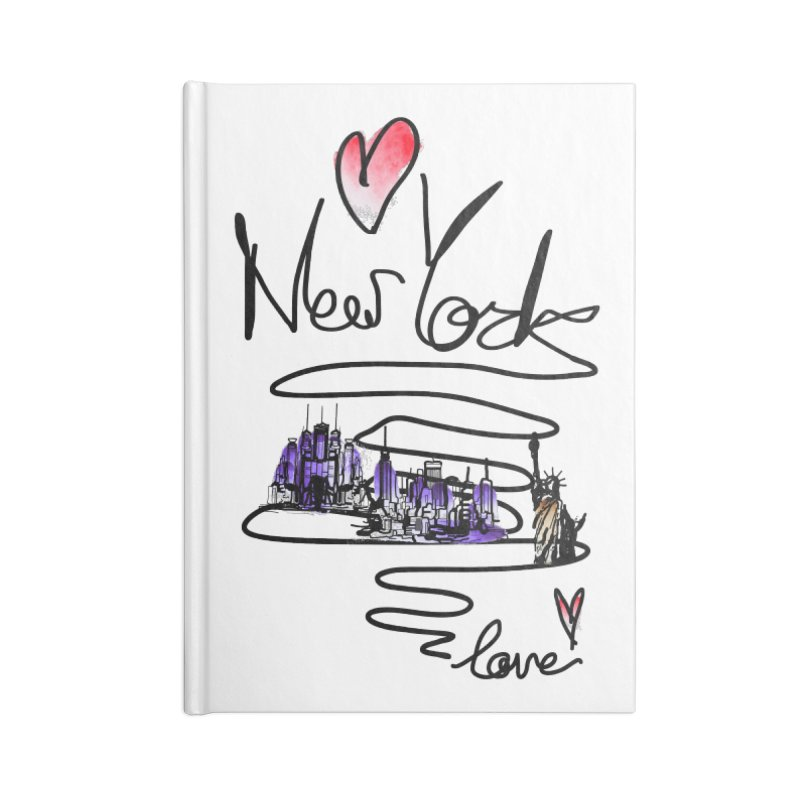 Love New York Accessories Lined Journal Notebook by cindyshim's Artist Shop