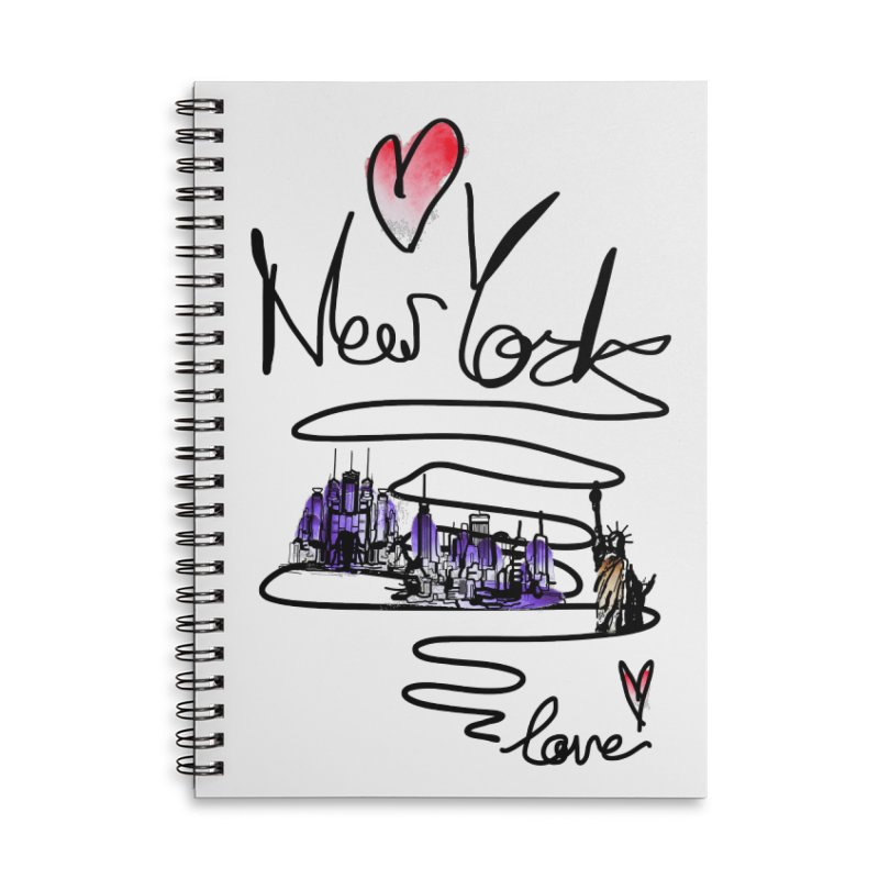 Love New York Accessories Lined Spiral Notebook by cindyshim's Artist Shop