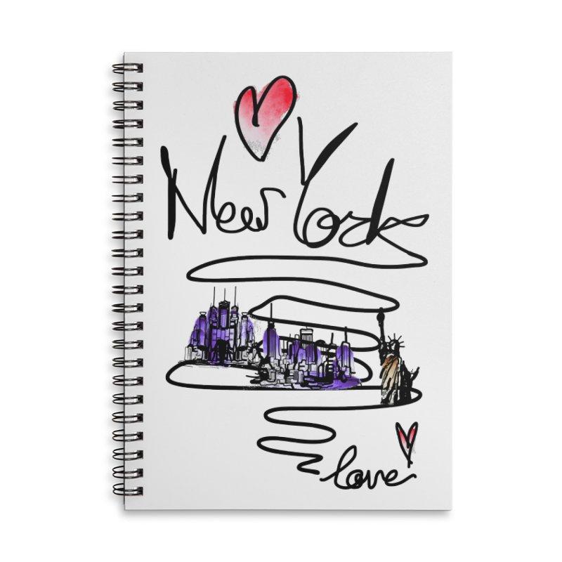 Love New York Accessories Notebook by cindyshim's Artist Shop