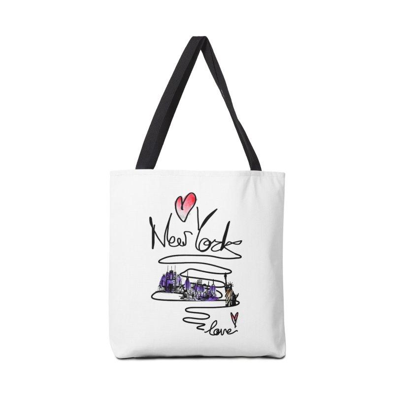 Love New York Accessories Bag by cindyshim's Artist Shop