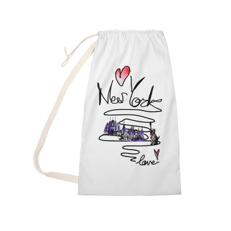 Love New York Accessories Laundry Bag Bag by cindyshim's Artist Shop
