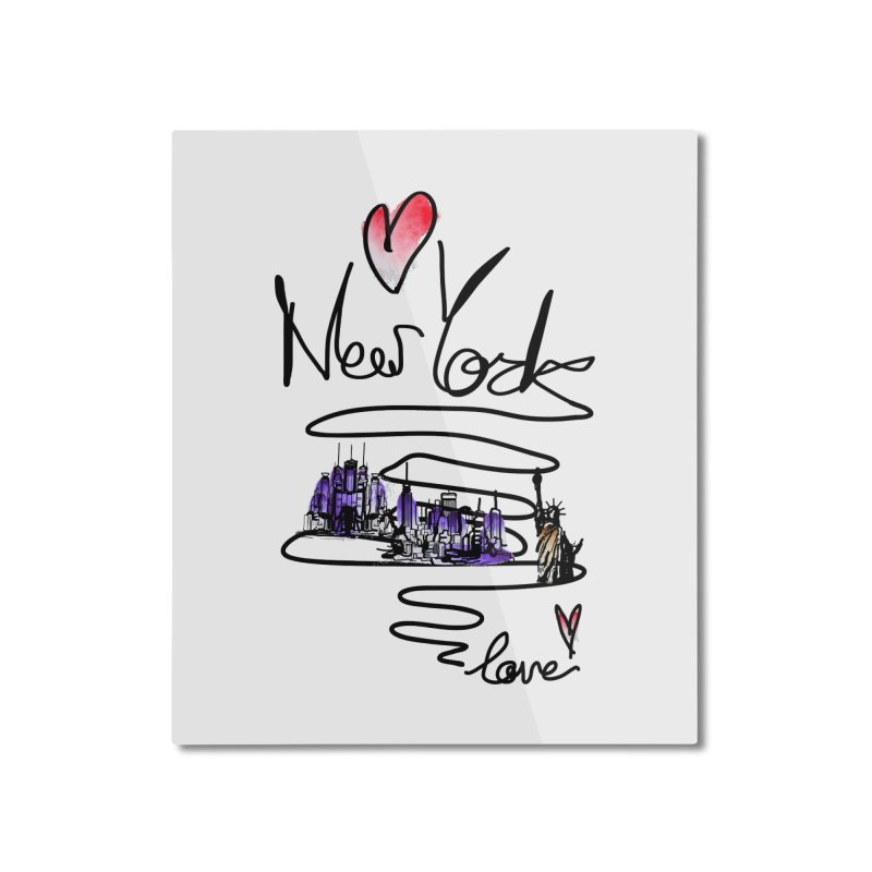 Love New York Home Mounted Aluminum Print by cindyshim's Artist Shop