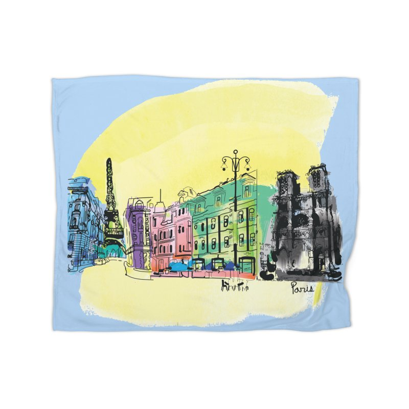 Travel in Paris Home Blanket by cindyshim's Artist Shop