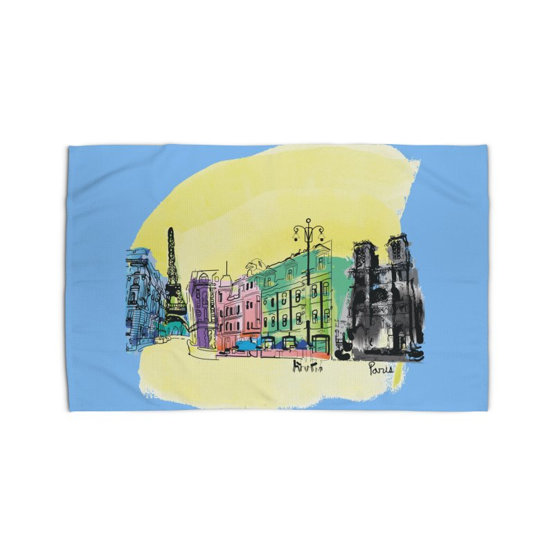 Travel in Paris Home Rug by cindyshim's Artist Shop