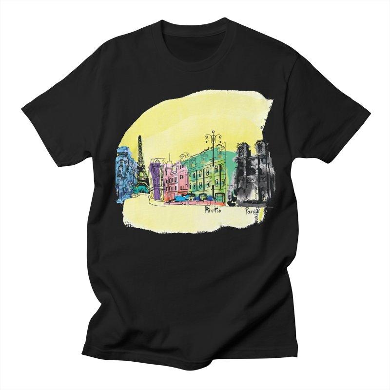 Travel in Paris Women's T-Shirt by cindyshim's Artist Shop