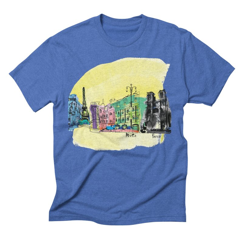 Travel in Paris Men's T-Shirt by cindyshim's Artist Shop