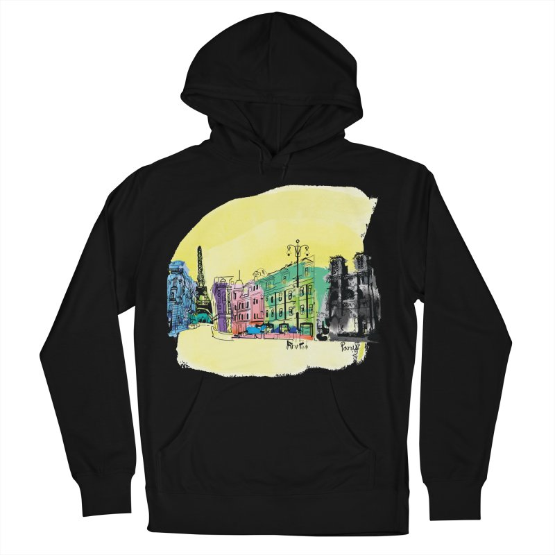 Travel in Paris Women's French Terry Pullover Hoody by cindyshim's Artist Shop