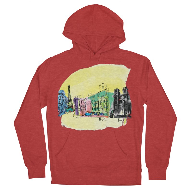 Travel in Paris Men's French Terry Pullover Hoody by cindyshim's Artist Shop