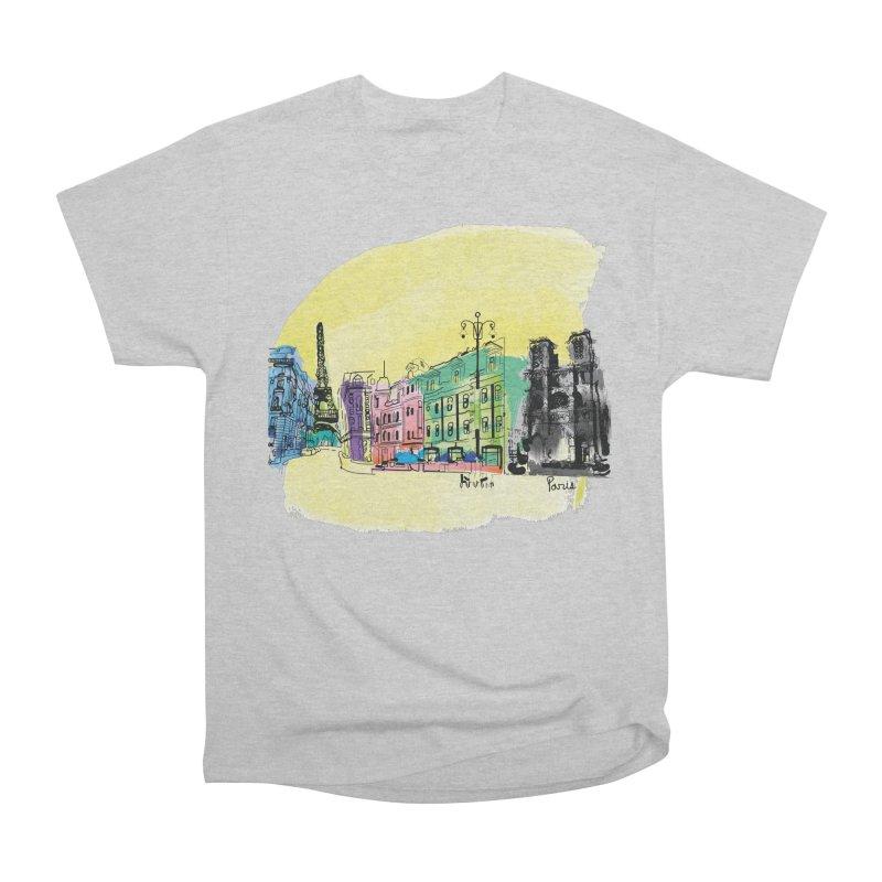 Travel in Paris Women's Heavyweight Unisex T-Shirt by cindyshim's Artist Shop