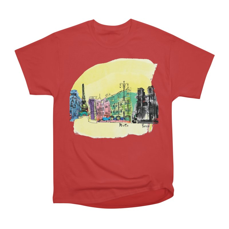 Travel in Paris Women's Heavyweight Unisex T-Shirt by cindyshim's Artist Shop