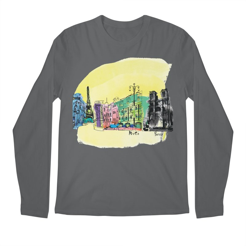Travel in Paris Men's Longsleeve T-Shirt by cindyshim's Artist Shop