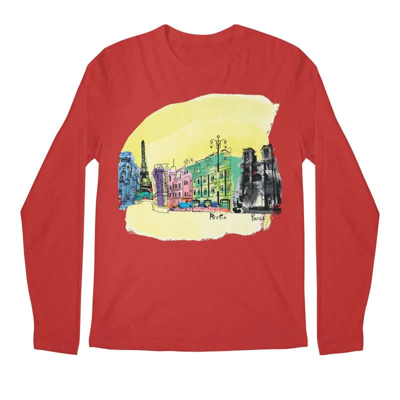 Travel in Paris Men's Longsleeve T-Shirt by cindyshim's Artist Shop