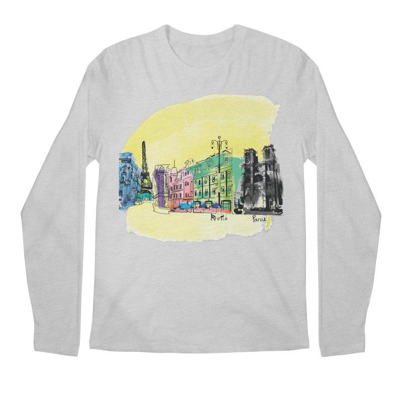 Travel in Paris Men's Regular Longsleeve T-Shirt by cindyshim's Artist Shop