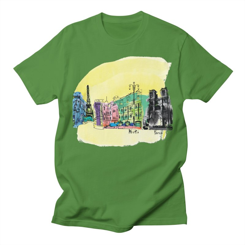 Travel in Paris Men's Regular T-Shirt by cindyshim's Artist Shop