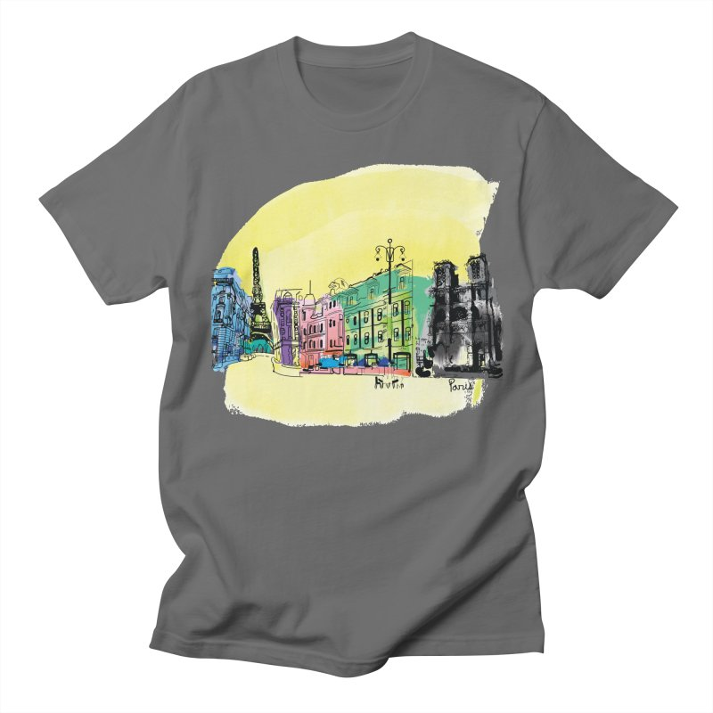 Travel in Paris Women's Regular Unisex T-Shirt by cindyshim's Artist Shop