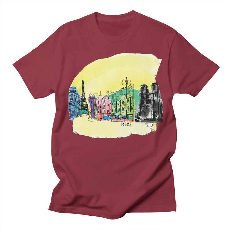 Travel in Paris Men's Regular T-Shirt by cindyshim's Artist Shop