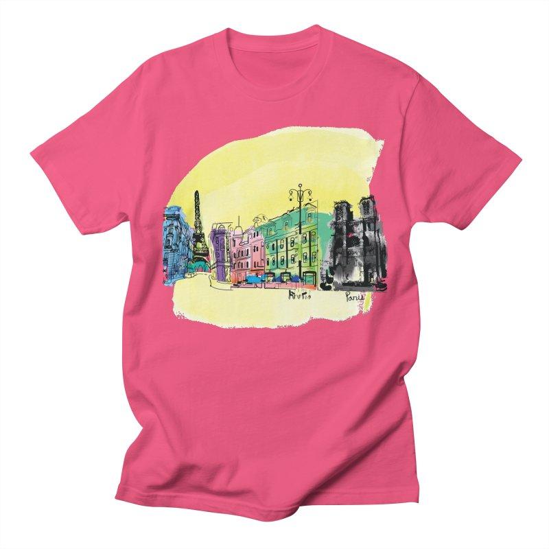 Travel in Paris Men's T-Shirt by cindyshim's Artist Shop