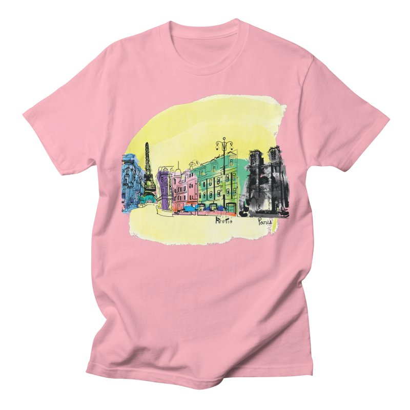 Travel in Paris Women's Regular Unisex T-Shirt by cindyshim's Artist Shop