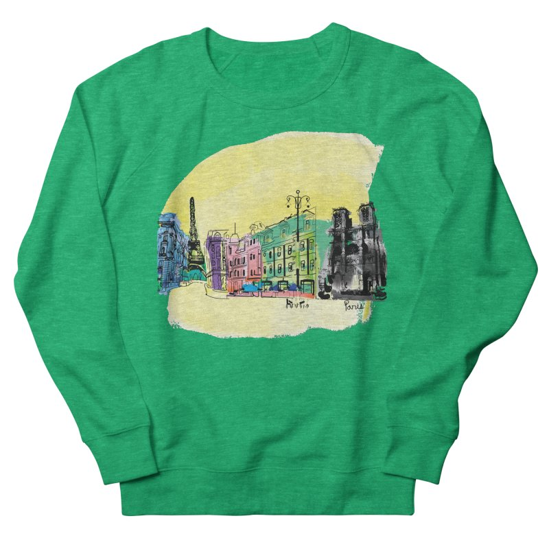 Travel in Paris Women's French Terry Sweatshirt by cindyshim's Artist Shop