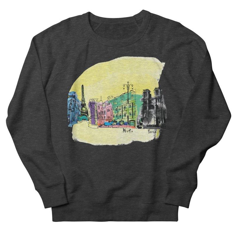 Travel in Paris Men's French Terry Sweatshirt by cindyshim's Artist Shop