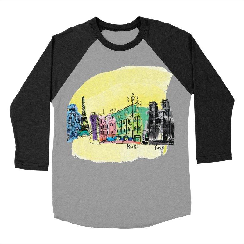 Travel in Paris Women's Baseball Triblend T-Shirt by cindyshim's Artist Shop