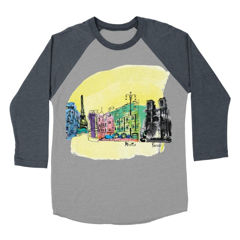 Travel in Paris Women's Baseball Triblend T-Shirt by cindyshim's Artist Shop