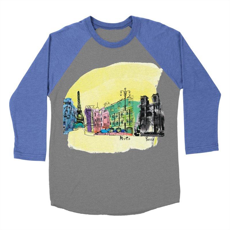 Travel in Paris Men's Baseball Triblend Longsleeve T-Shirt by cindyshim's Artist Shop