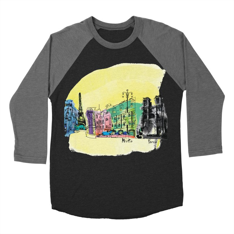 Travel in Paris Men's Baseball Triblend T-Shirt by cindyshim's Artist Shop