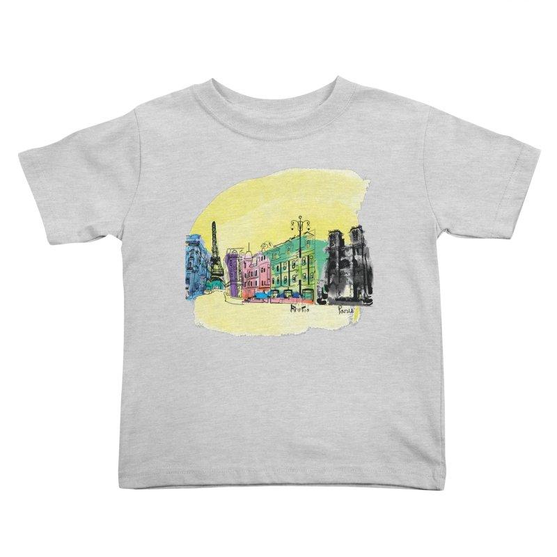 Travel in Paris Kids Toddler T-Shirt by cindyshim's Artist Shop