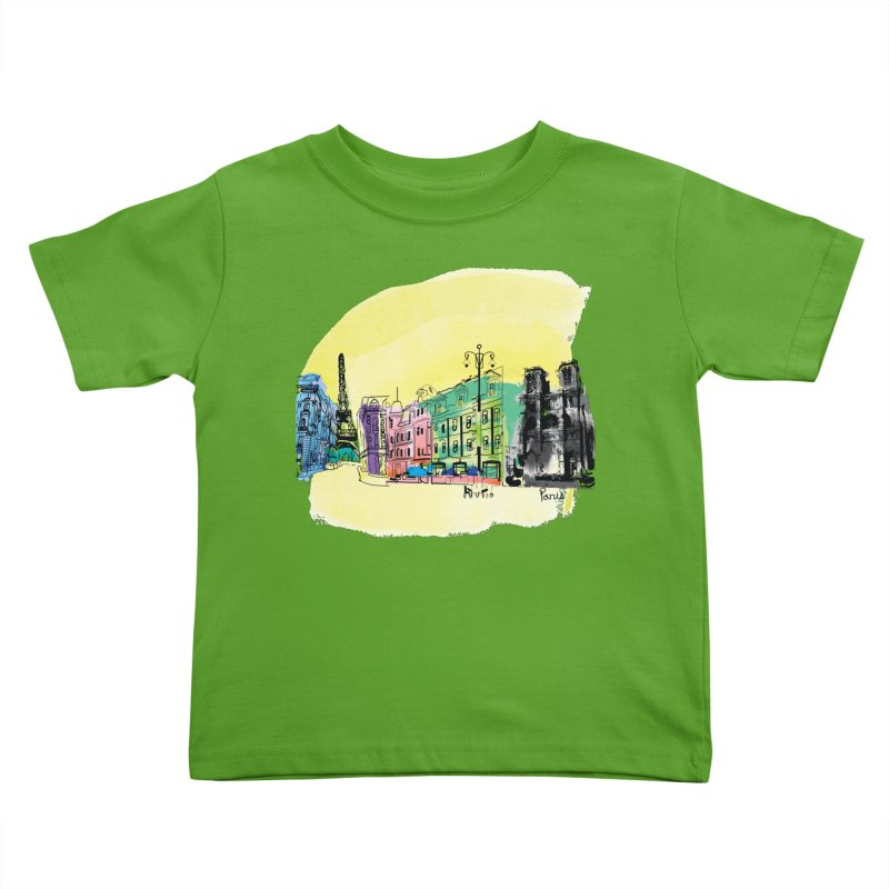 Travel in Paris Kids Toddler T-Shirt by cindyshim's Artist Shop