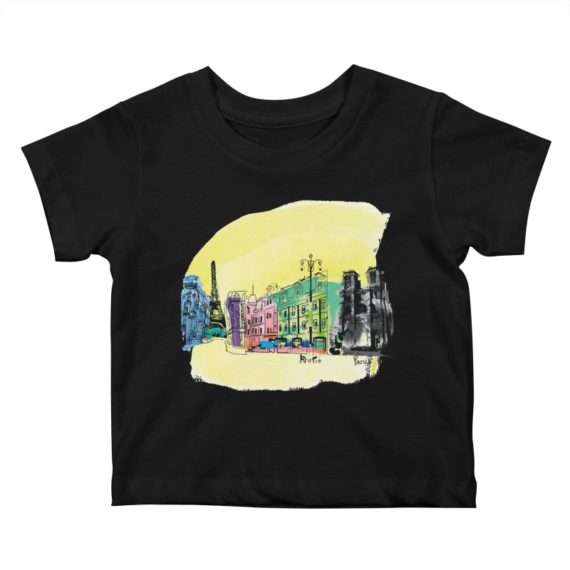 Travel in Paris Kids Baby T-Shirt by cindyshim's Artist Shop