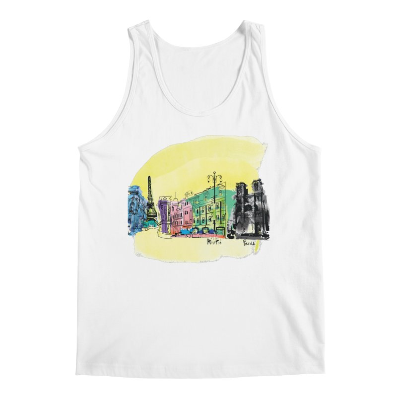 Travel in Paris Men's Tank by cindyshim's Artist Shop