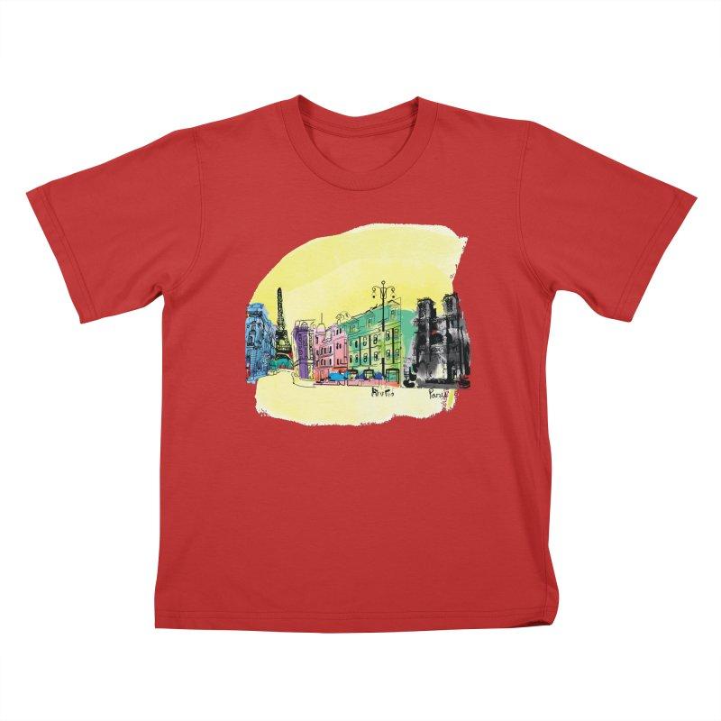Travel in Paris Kids T-Shirt by cindyshim's Artist Shop